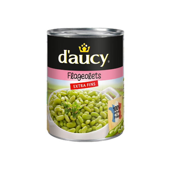 Daucy Extra Fine Flageolets Beans 530g product image - Available at: France At Home www.franceathome.com.au