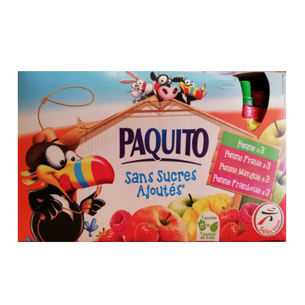 Paquito Fruit Pouches 12x90g product image