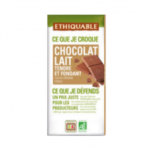Fair Trade – Organic Ethiquable Tender Milk Chocolate 100g