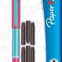 My 1st Paper Mate Fountain Pen + 6 ink cartridges (PINK)