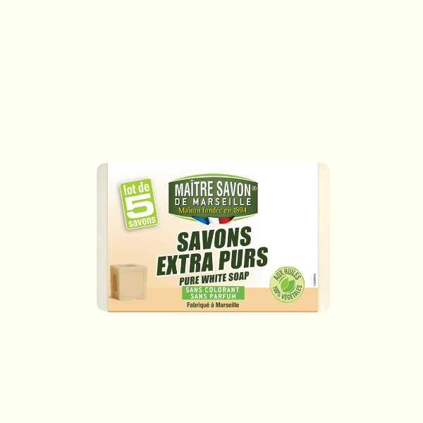 Pure White Soap (Savons Extra Purs) 5x100g