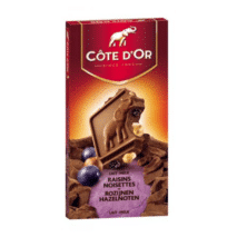 Cote d'Or Milk Chocolate, Hazelnut and Raisins 180g
