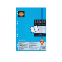 Domedia pack of 200 Copies Doubles Blanche A4 Seyes