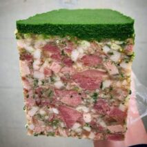 Farce Charcuterie – Free range pig's head terrine topped with parsley jelly 150g (Refrigerated)